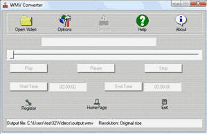WMV Converter Screenshot