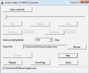 Weqsoft Audio Video To WMA Converter Screenshot