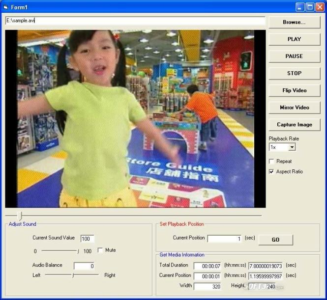 X360 Video Player Lite ActiveX OCX Screenshot 2