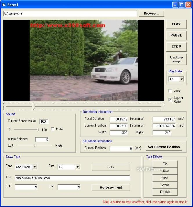 x360soft - Video Player ActiveX SDK Screenshot 2