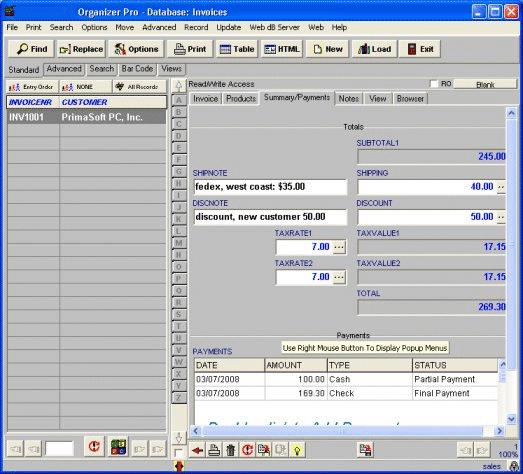 Sales Orders Organizer Pro Screenshot 1