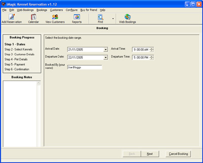 iMagic Kennel Reservation Screenshot 1
