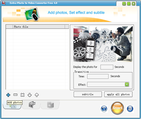 Extra Photo to Video Converter Free Screenshot