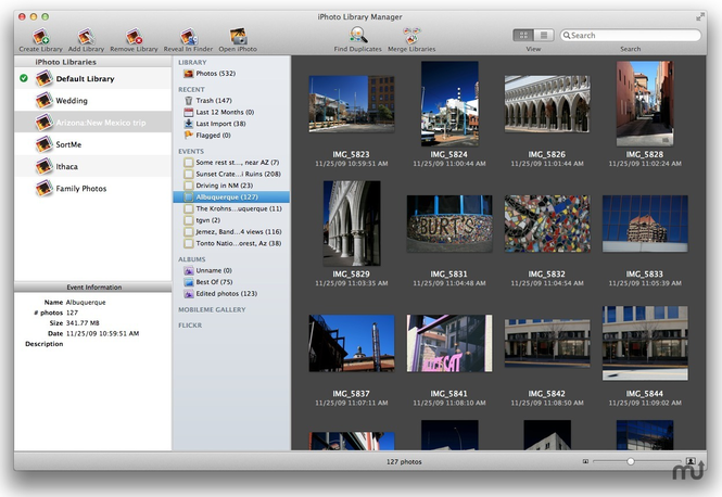 iPhoto Library Manager Screenshot