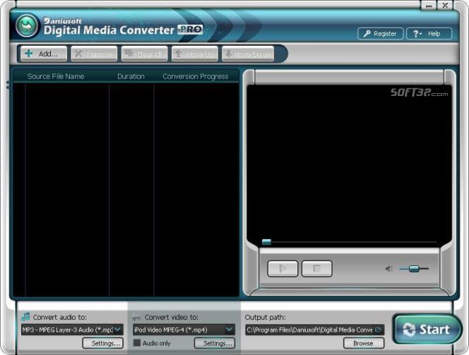 Daniusoft Media Converter Pro Screenshot 2