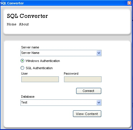SQL Converter Screenshot