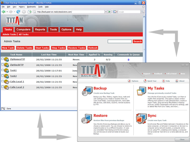 Titan Backup Business Screenshot 1