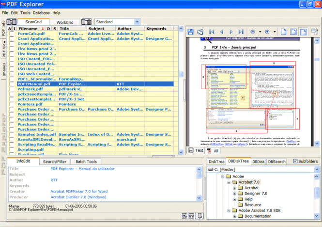 PDF Explorer Screenshot