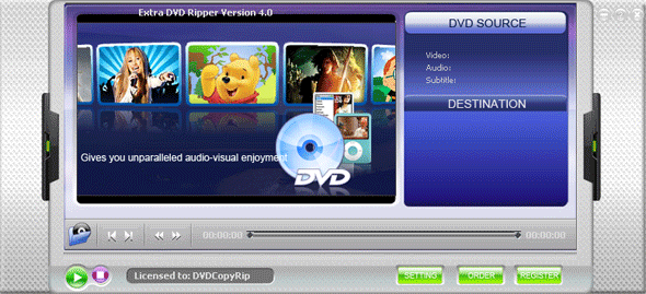 Extra DVD Ripper Professional Screenshot