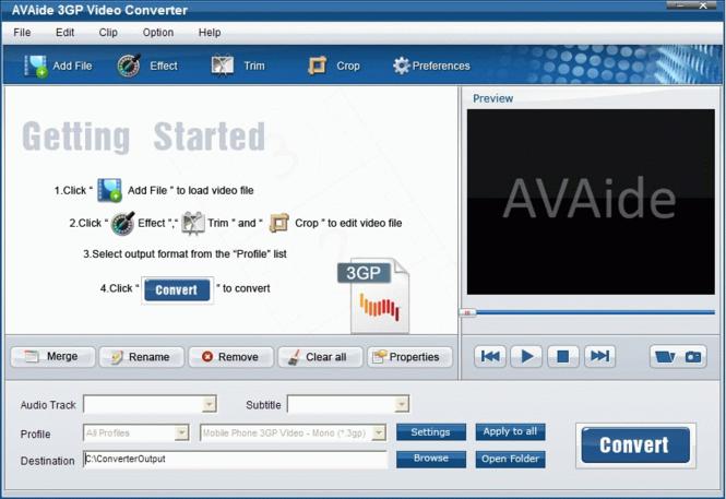 EZuse 3GP Converter Screenshot