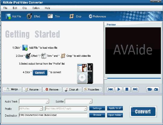 EZuse AVI Converter Screenshot 1