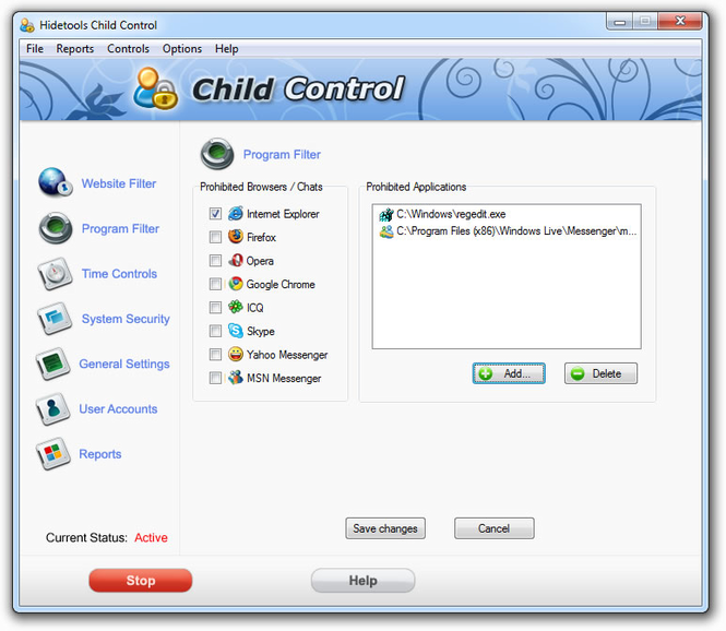 Hidetools Child Control Screenshot