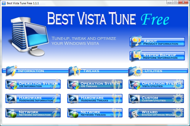 Best Vista Tune Free Screenshot