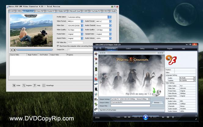 Extra DVD to FLV + FLV Video Converter Screenshot