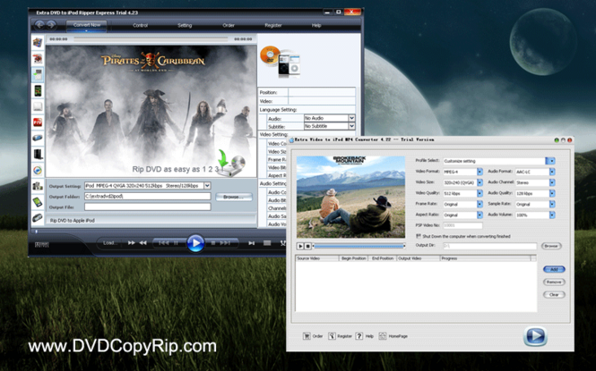 Extra DVD Video to iPod Converter Screenshot