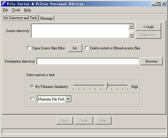 File Sorter & Filter Personal Edition Screenshot