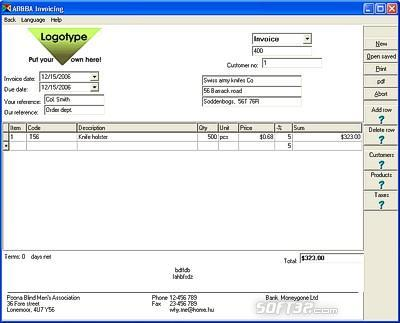 AB Invoicing Screenshot 2