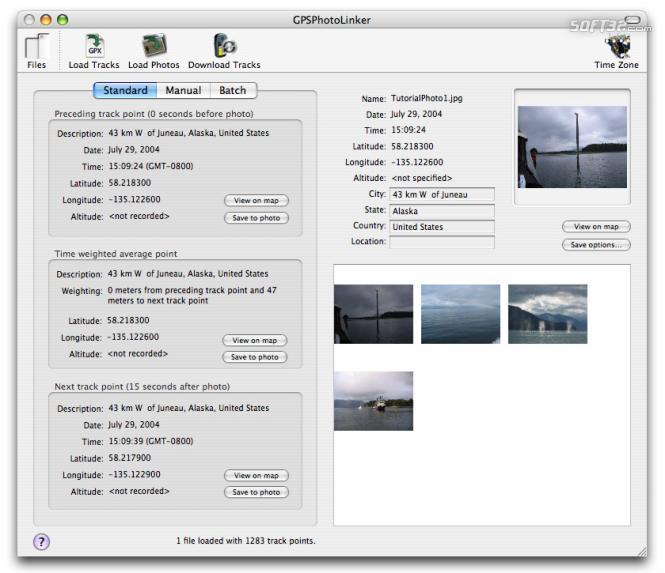GPSPhotoLinker Screenshot