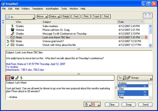 SnapMail Screenshot