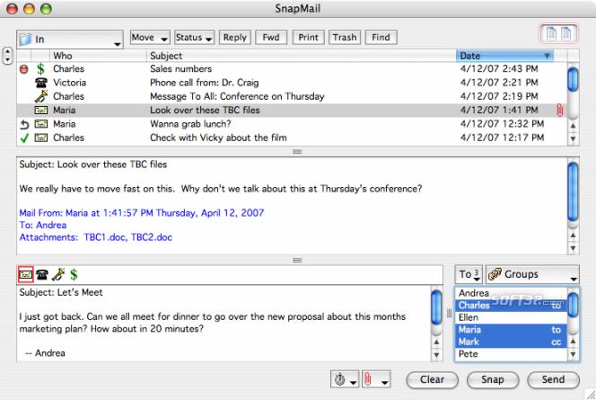 SnapMail Mac Screenshot 2