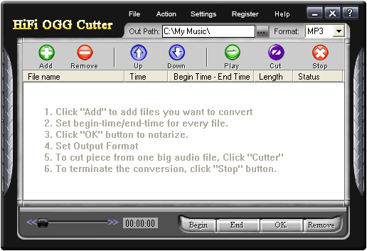 HiFi OGG Cutter Screenshot 1