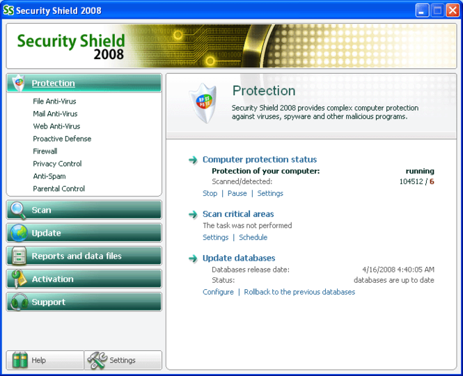 Security Shield 2009 Screenshot 1