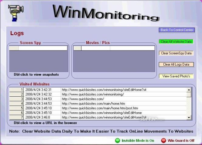WinMonitoring Screenshot 1