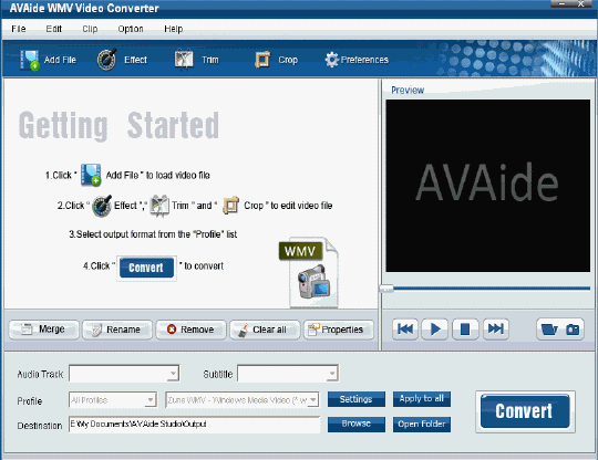 EZuse WMV Converter Screenshot