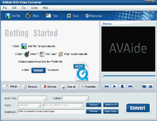 EZuse MOV Converter Screenshot 1
