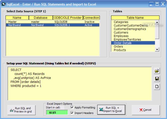 SQL Drill Freeware Screenshot 3
