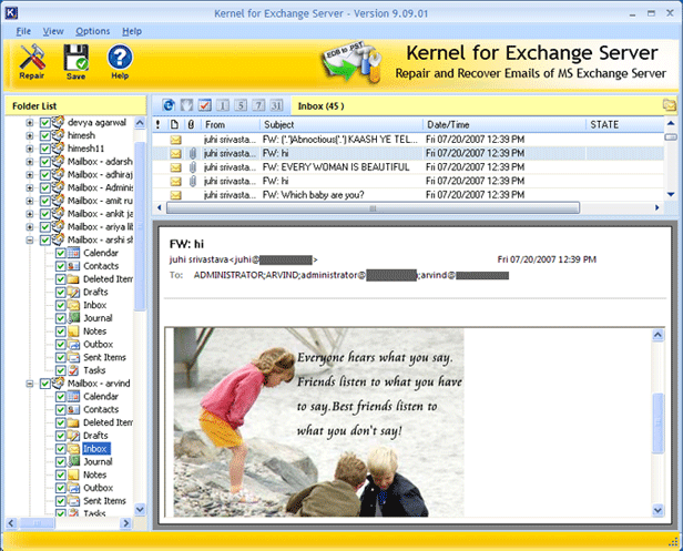 Microsoft Exchange Recovery Screenshot 1