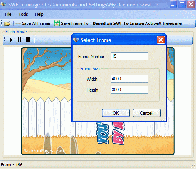 SWF To Image GUI Screenshot 1