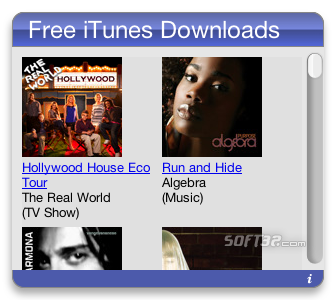 Free iTunes Downloads Screenshot