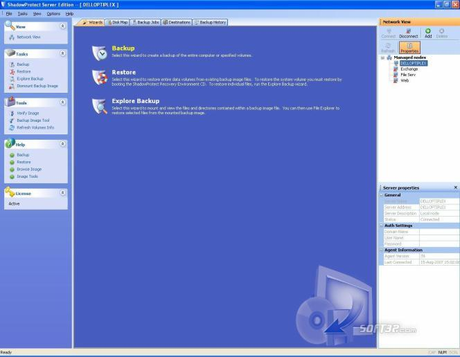 ShadowProtect Server Edition Screenshot 2