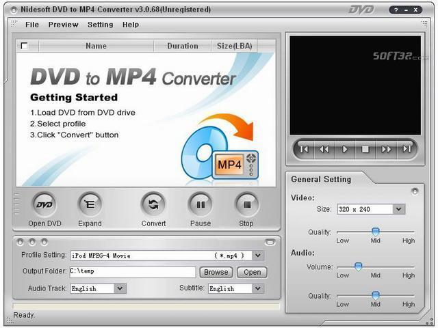 Nidesoft DVD to MP4 Converter Platinum Screenshot 2