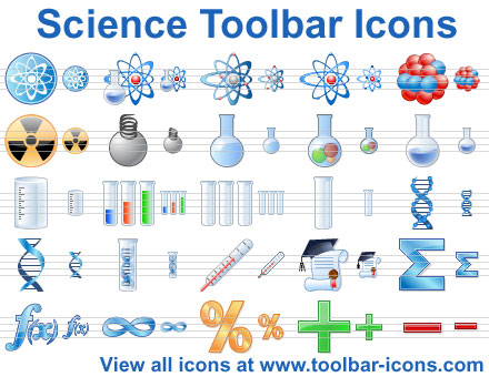 Science Toolbar Icons Screenshot