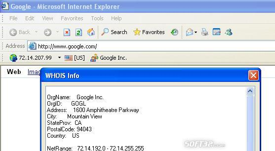 WHOIS Toolbar for Internet Explorer Screenshot 2