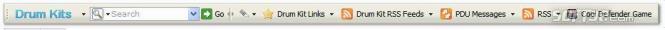 Drum kits (Firefox) Screenshot