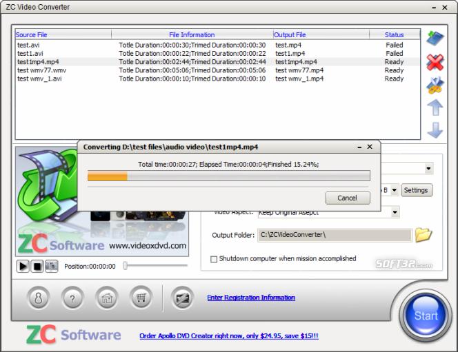 ZC Video Converter Screenshot 2