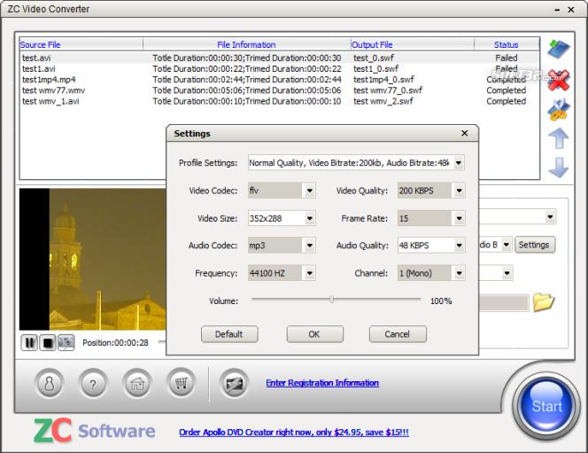 ZC Video Converter Screenshot 3