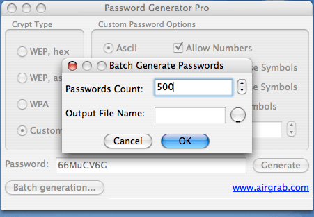 AirGrab Password PRO Screenshot