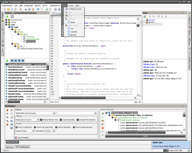 UNA for OS X Screenshot