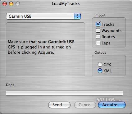 LoadMyTracks Screenshot