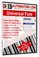 MAC Universal Barcode Font Screenshot