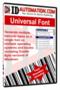 MAC Universal Barcode Font 1