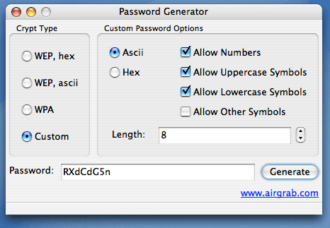 AirGrab Password Screenshot