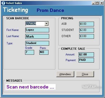 Ticketing 4 Schools Screenshot 2