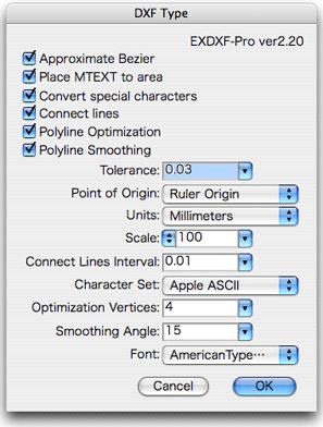 EXDXF-Pro2 Screenshot
