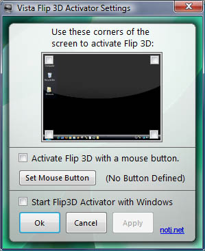 Vista Flip 3D Activator Screenshot