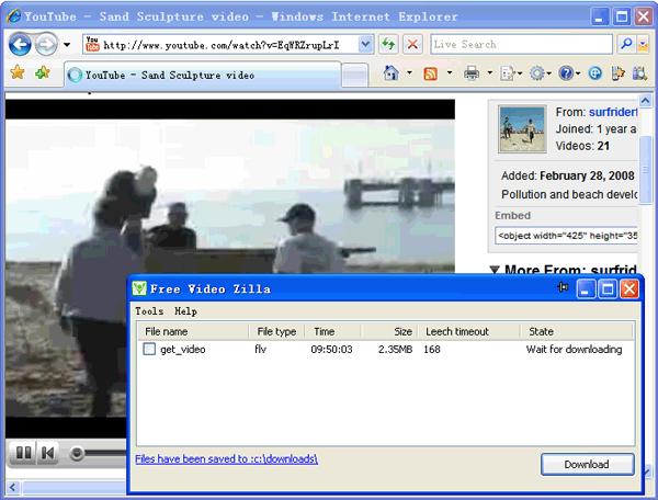 Free Video Zilla Screenshot